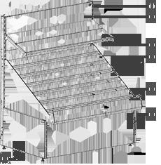 Конструкция овощного развала с наклонной полкой