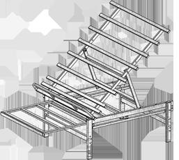 Конструкция развала с регулируемым углом наклона полки